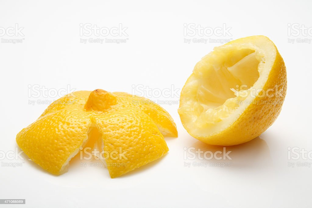 Squeezed lemon royalty-free stock photo