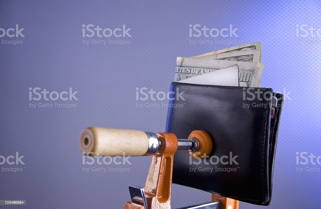 Squeezed royalty-free stock photo