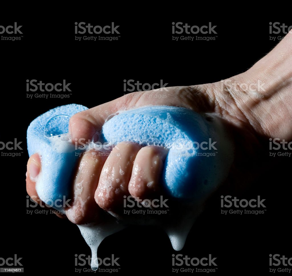 squeezing royalty-free stock photo