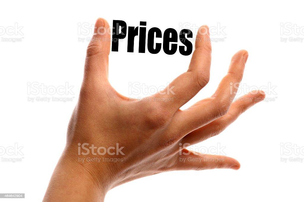 Squeezing prices stock photo