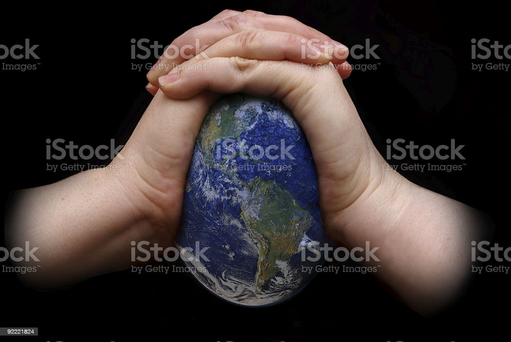 Squeezing the Earth royalty-free stock photo