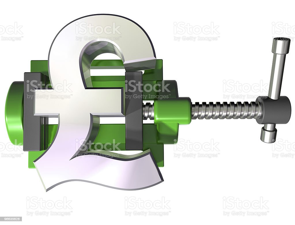 Squeezing the pound royalty-free stock photo