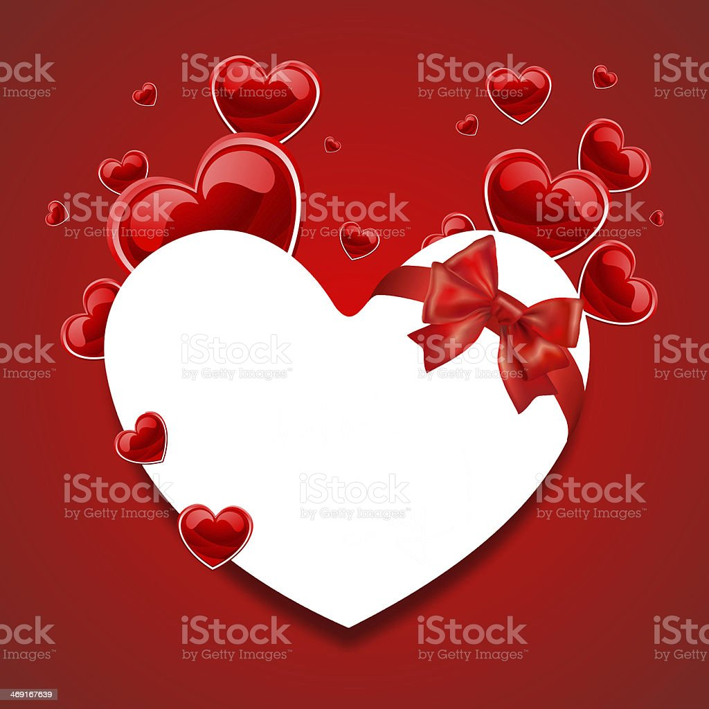 Squere Love Card With Hearts royalty-free stock photo