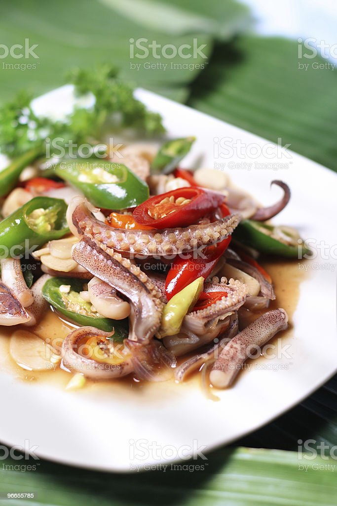 Squid seafood dish royalty-free stock photo