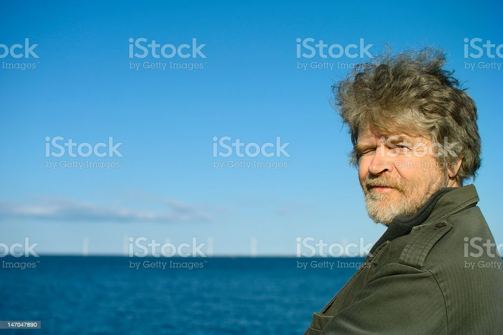 Squinting Senior royalty-free stock photo