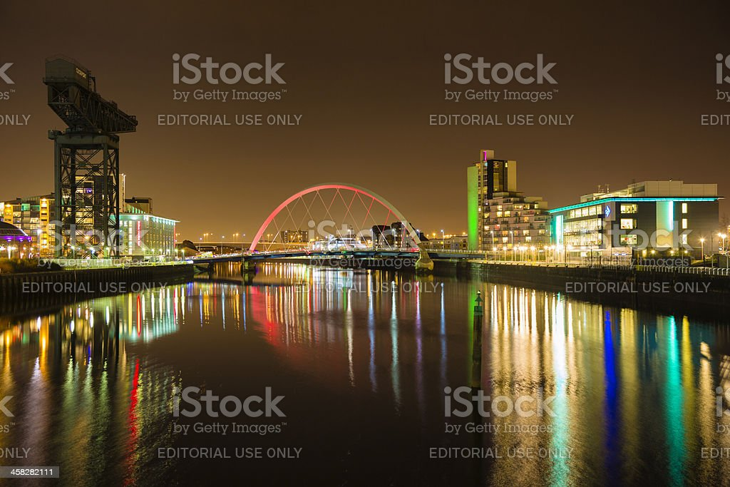 Squinty Bridge, Glasgow royalty-free stock photo