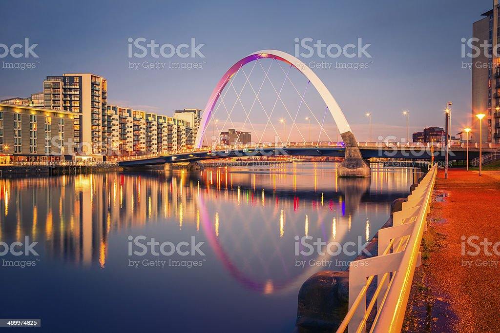 Squinty Bridge, Glasgow stock photo