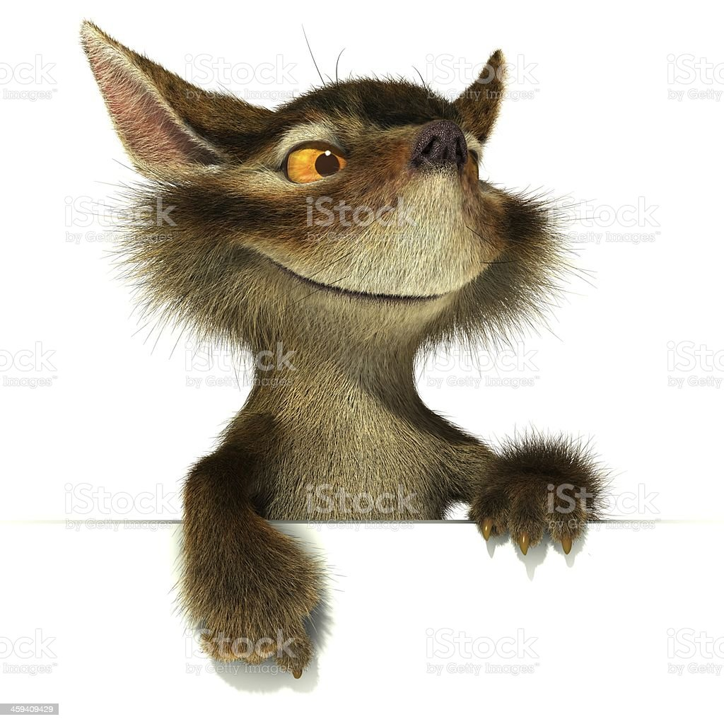 Squirrel. Point the finger at stock photo