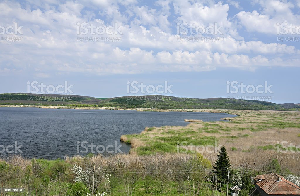 Srebarna lake, Danube river, Bulgaria stock photo