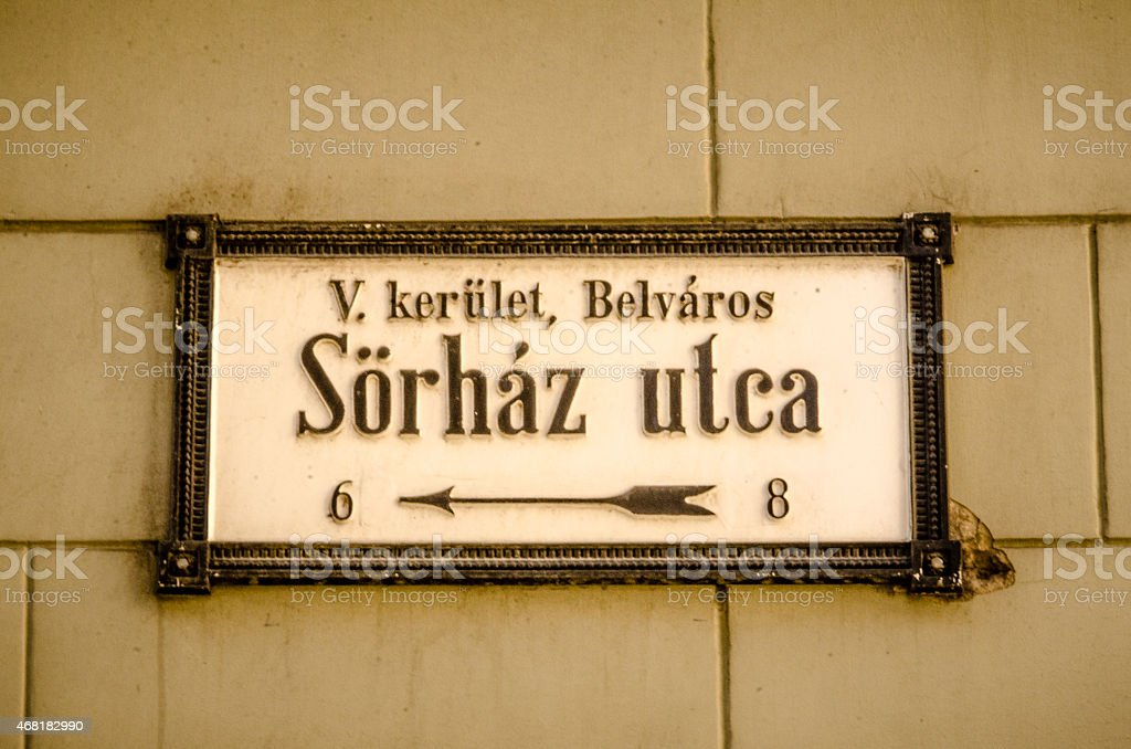S?rh?z utca stock photo