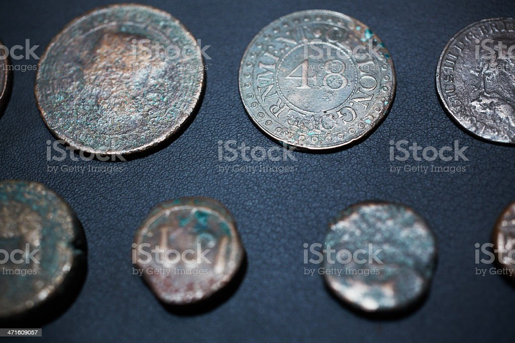 Sri Lanka ancient coins stock photo