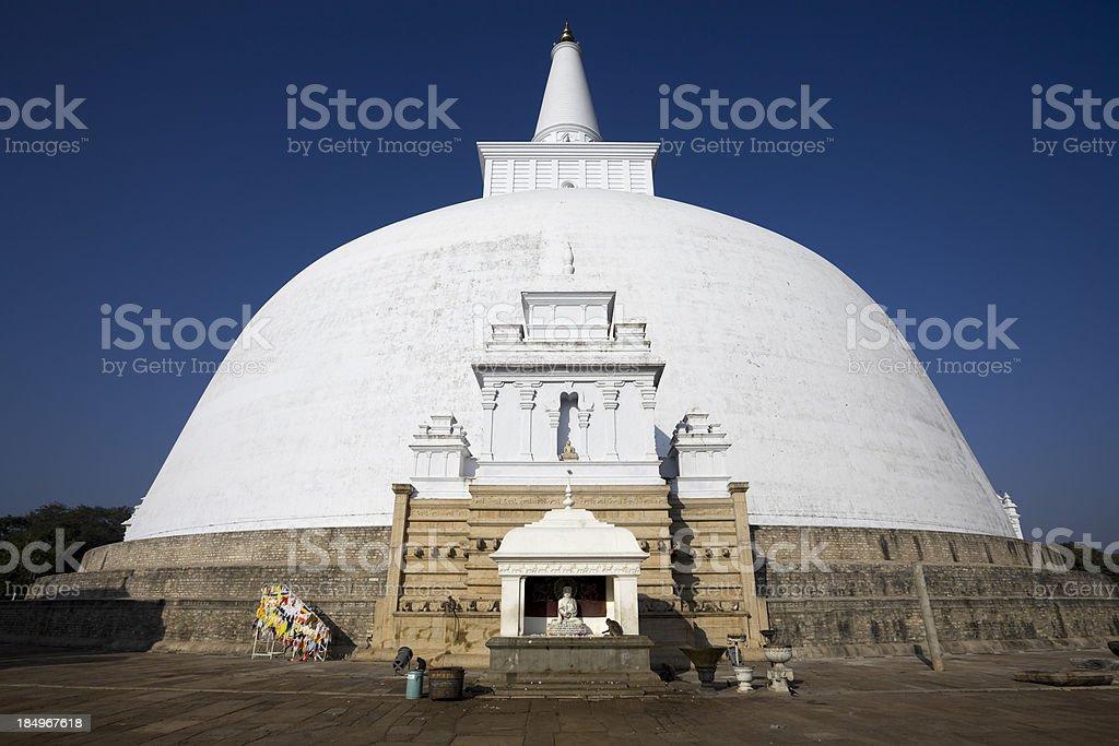 Sri Lanka Anuradhapura Ruvanvelisaya Dagoba stock photo