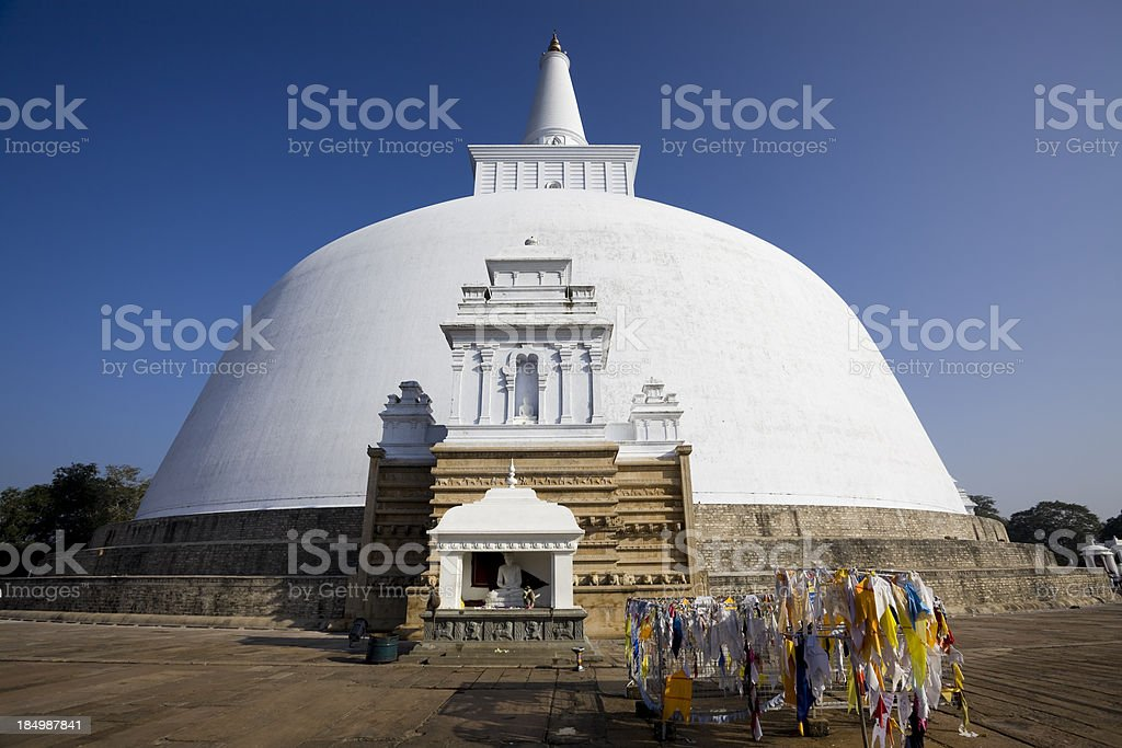 Sri Lanka Anuradhapura Ruvanvelisaya Dagoba stock photo