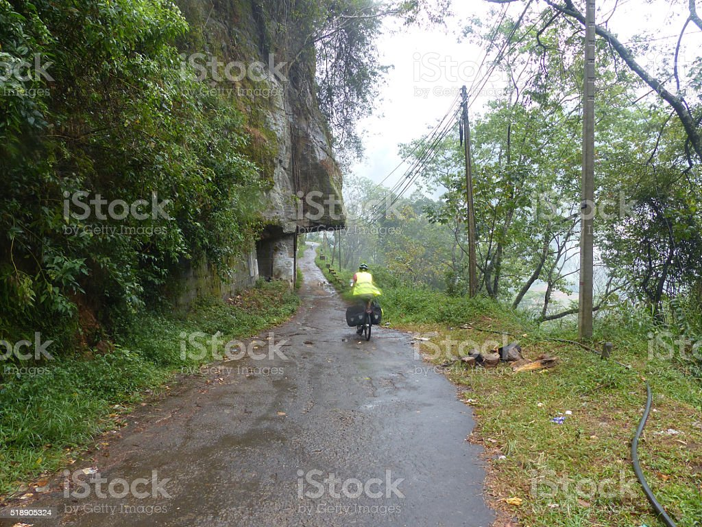 Sri Lanka bicycle round trip stock photo