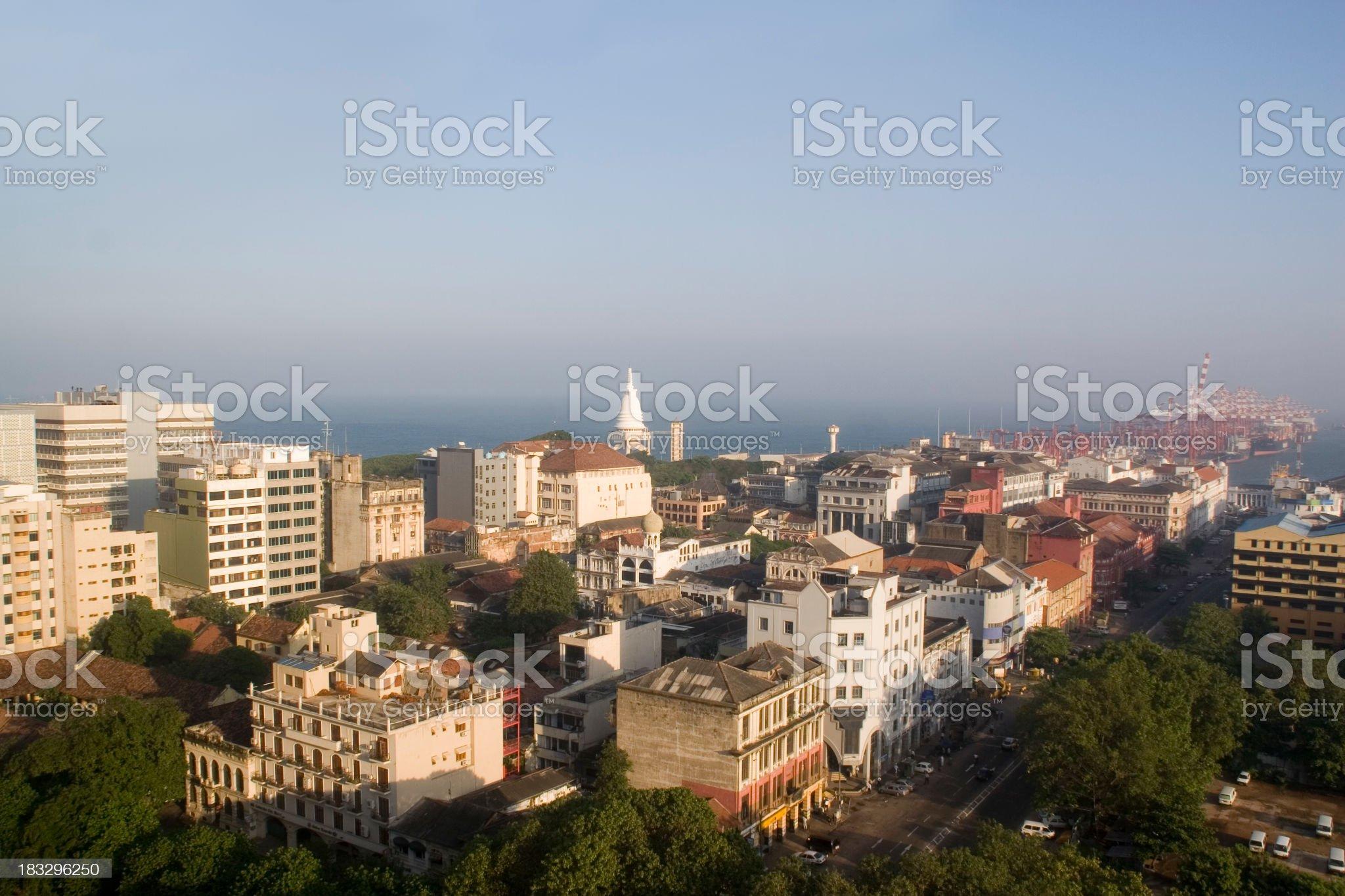 Sri Lanka: Colombo Downtown royalty-free stock photo