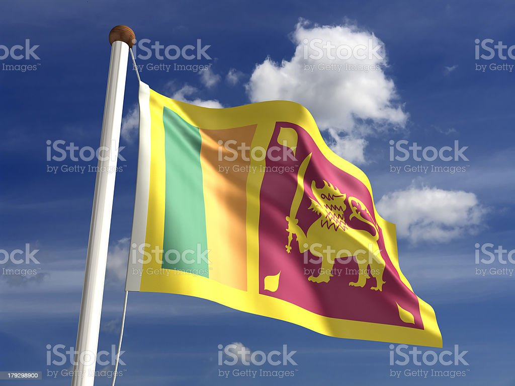 Sri Lanka flag (with clipping path) royalty-free stock photo