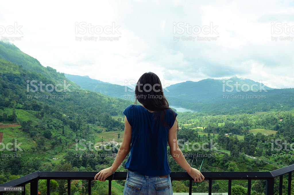 Sri Lanka Mountains Women stock photo