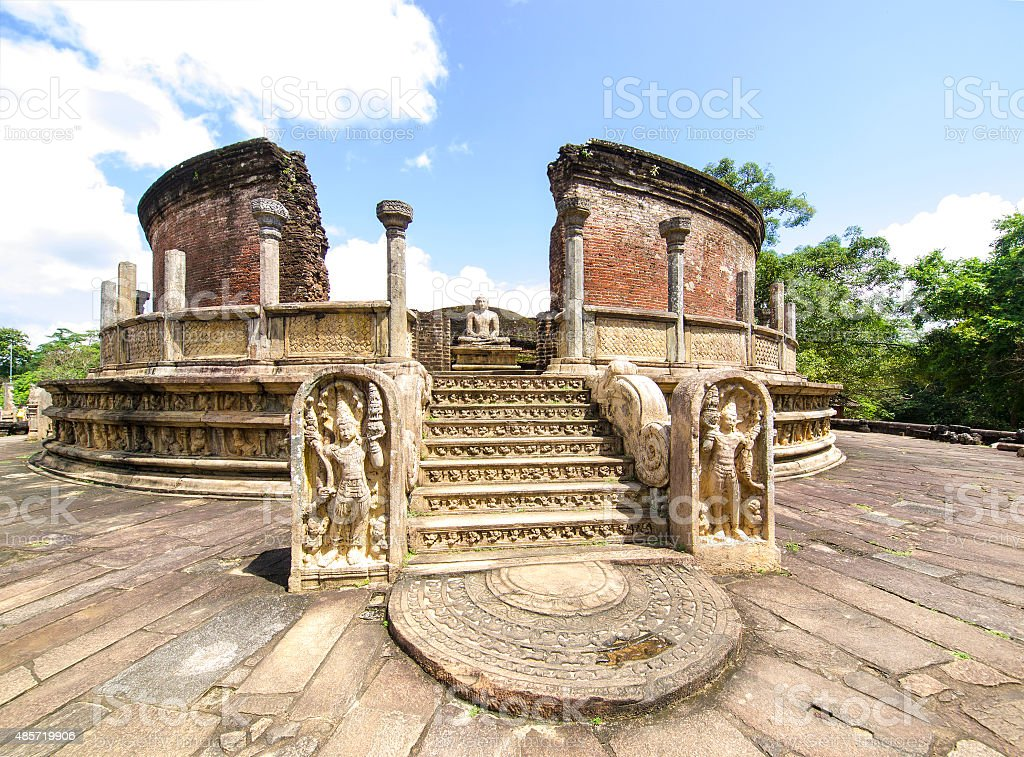 Sri Lanka typical religious structure in The Polonnaruwa, Sri Lanka stock photo
