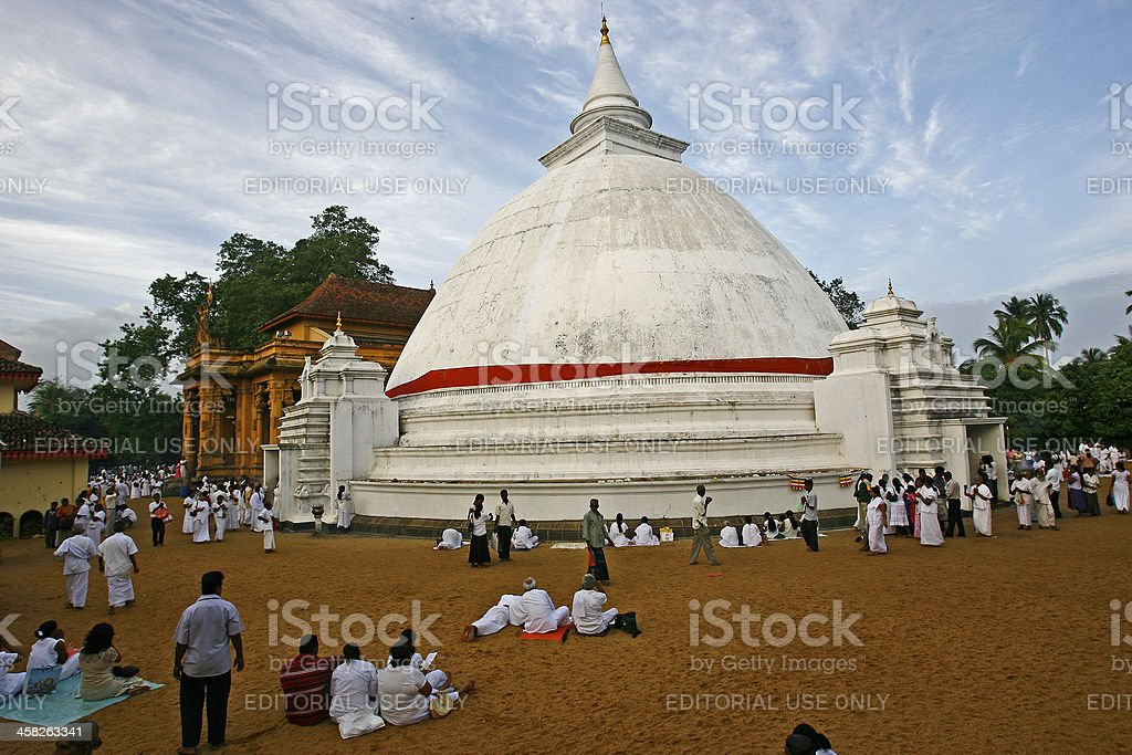 Sri Lankan devotees pray stock photo