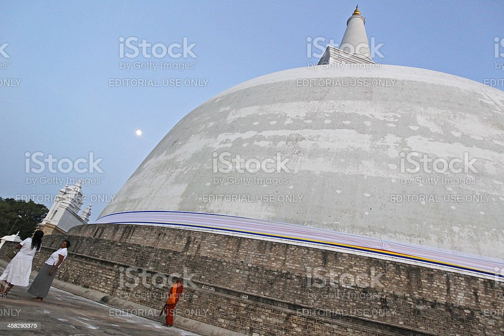 Sri Lankan devotees pray royalty-free stock photo