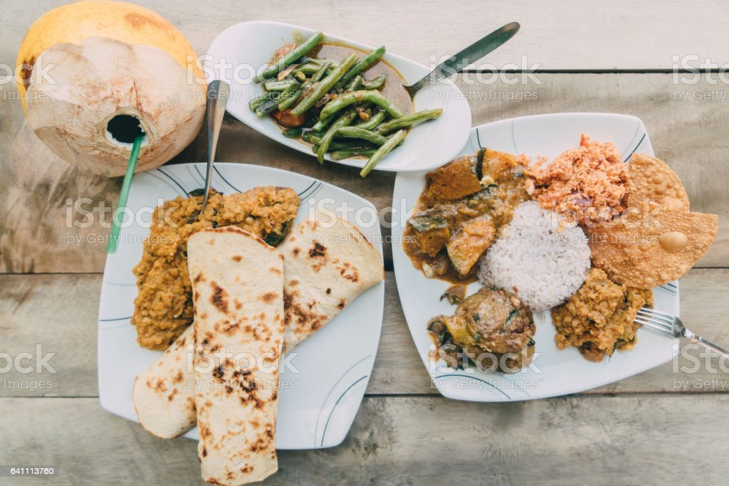 Sri Lankan food stock photo