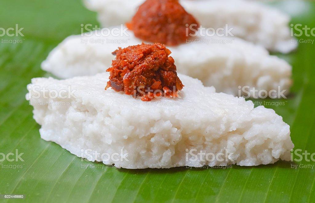 Sri Lankan Kiribath, The milk rice stock photo