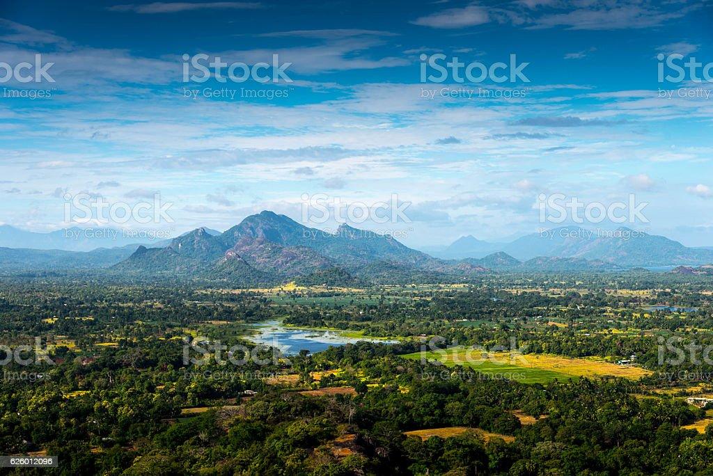 Sri Lankan landscape stock photo