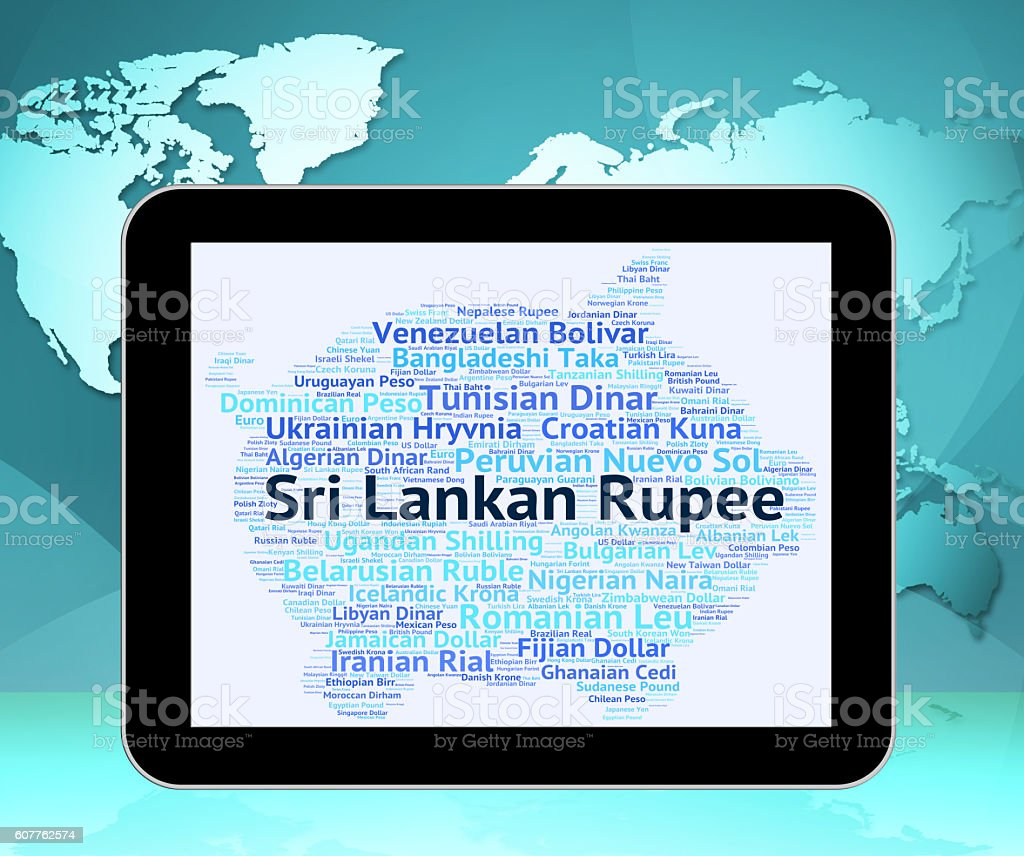 Sri Lankan Rupee Means Forex Trading And Exchange stock photo