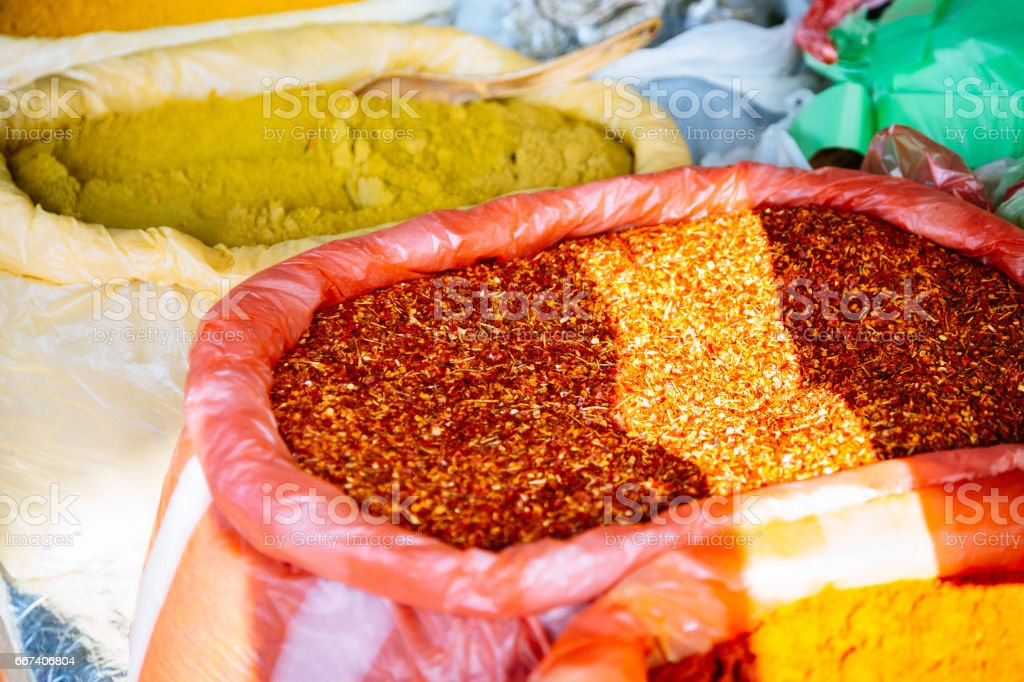 Sri Lankan spices stock photo