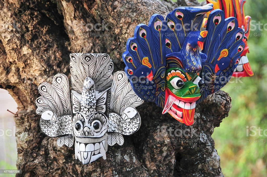 Sri Lankan traditional mask stock photo