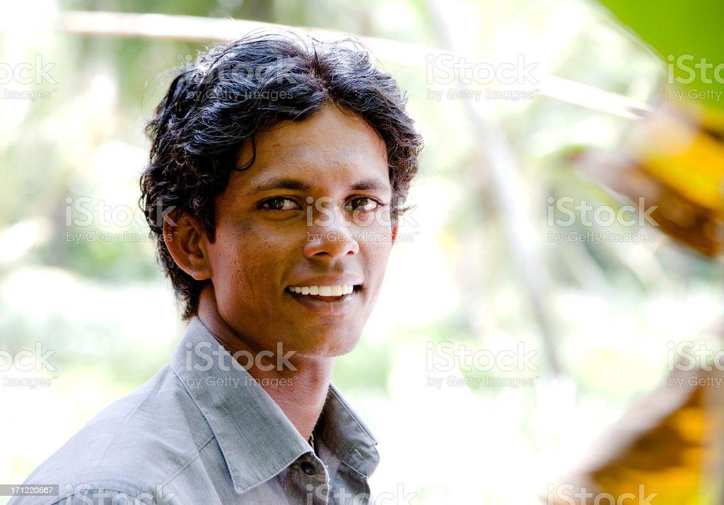 Sri Lankan young man royalty-free stock photo