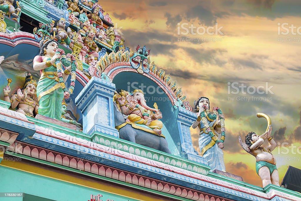 Sri Layan Sithi Vinayagar Temple Towers stock photo