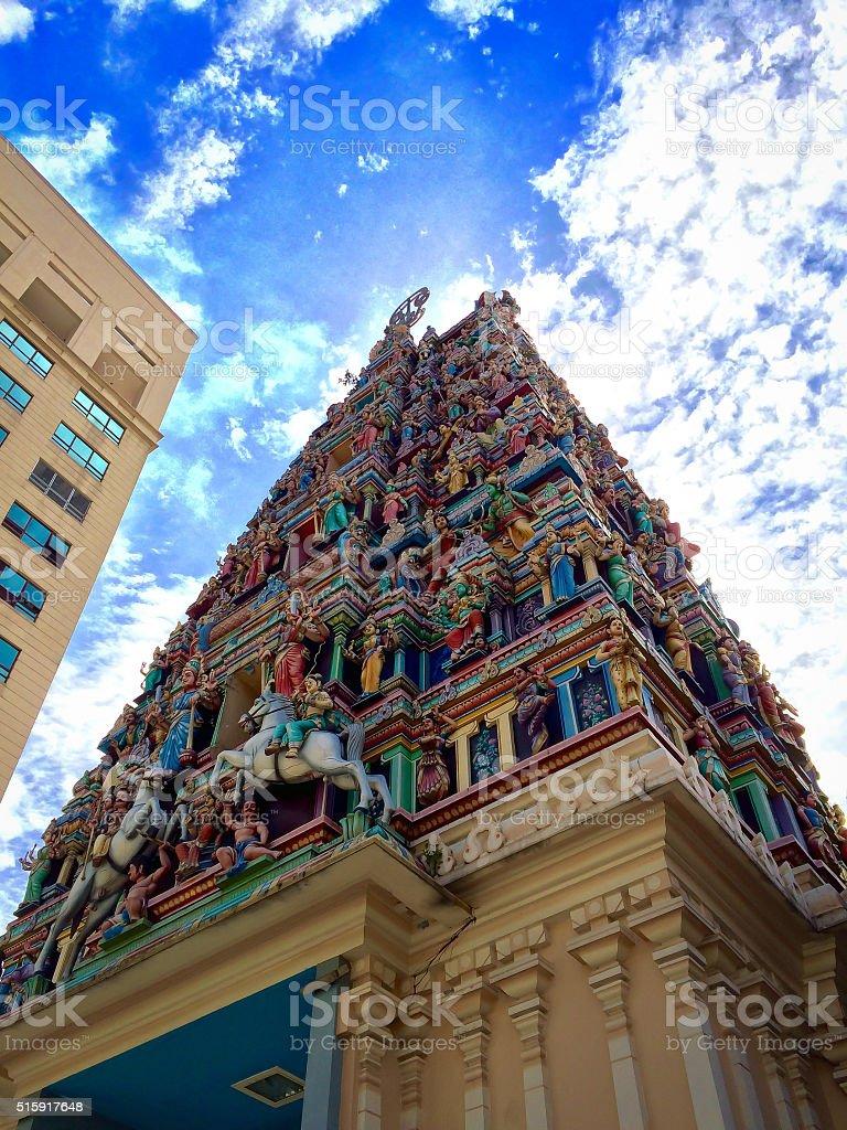Sri Mahamariamman Temple in Kuala Lumpur stock photo