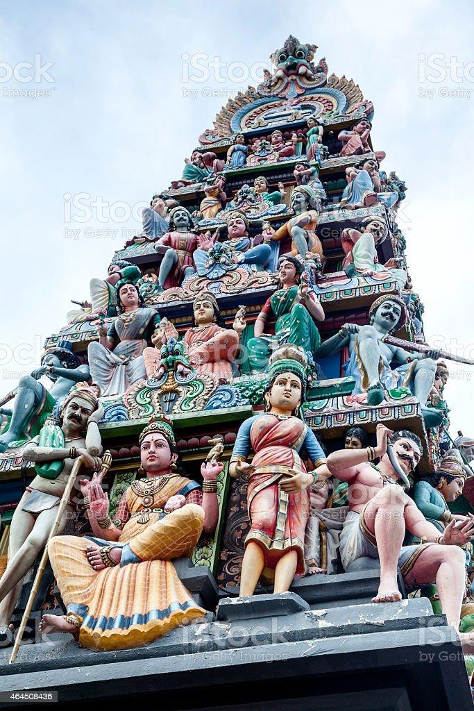 Sri Mariamman Hindu Temple in Singapore Chinatown stock photo