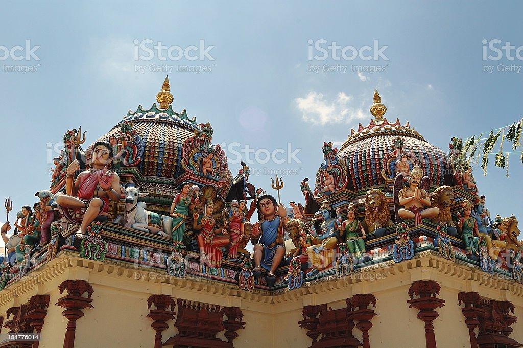 Sri Mariamman Temple, Chinatown, Singapore royalty-free stock photo