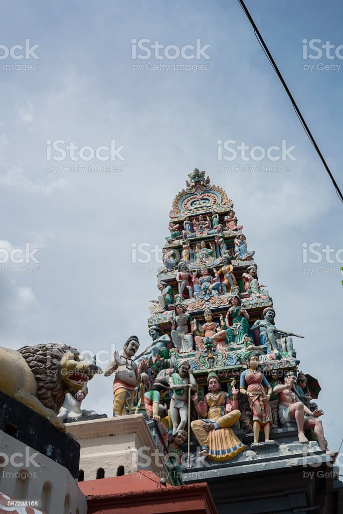 Sri Mariamman Temple is Singapore's Hindu temple stock photo