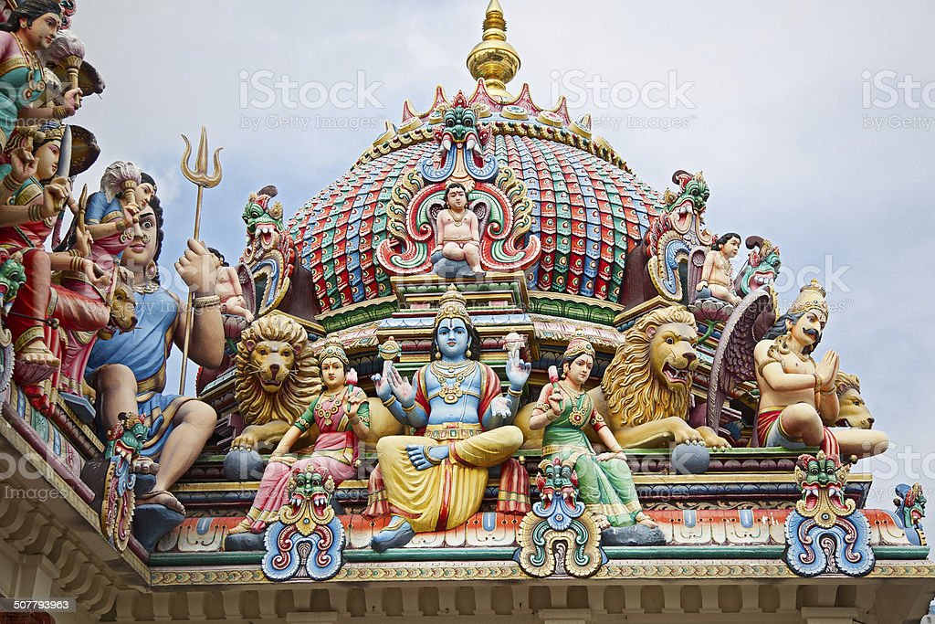Sri Mariamman Temple stock photo