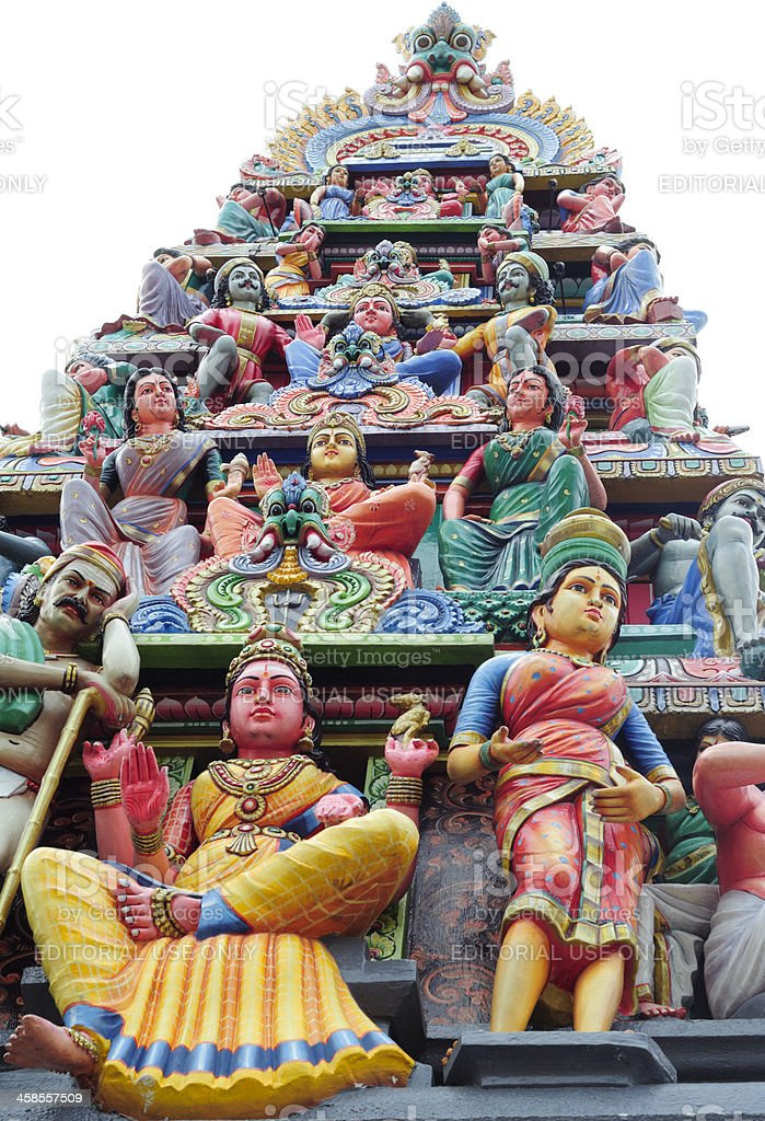 Sri Mariamman Temple, Singapore royalty-free stock photo