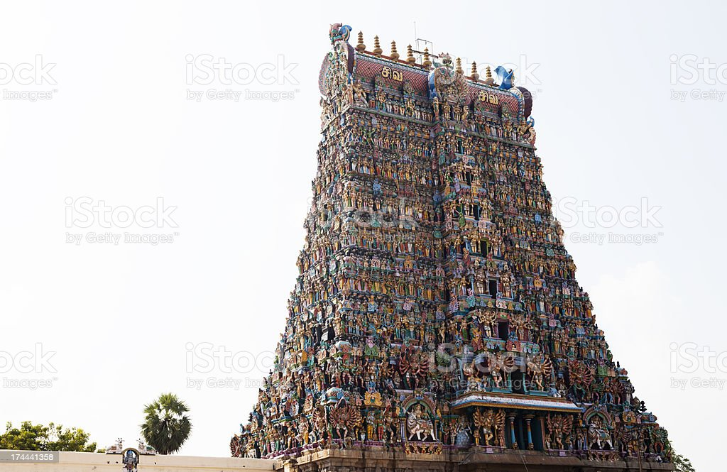 Sri Meenakshi temple royalty-free stock photo