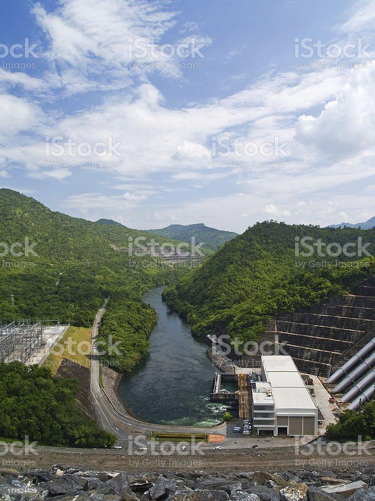 Sri Nakharin Dam stock photo