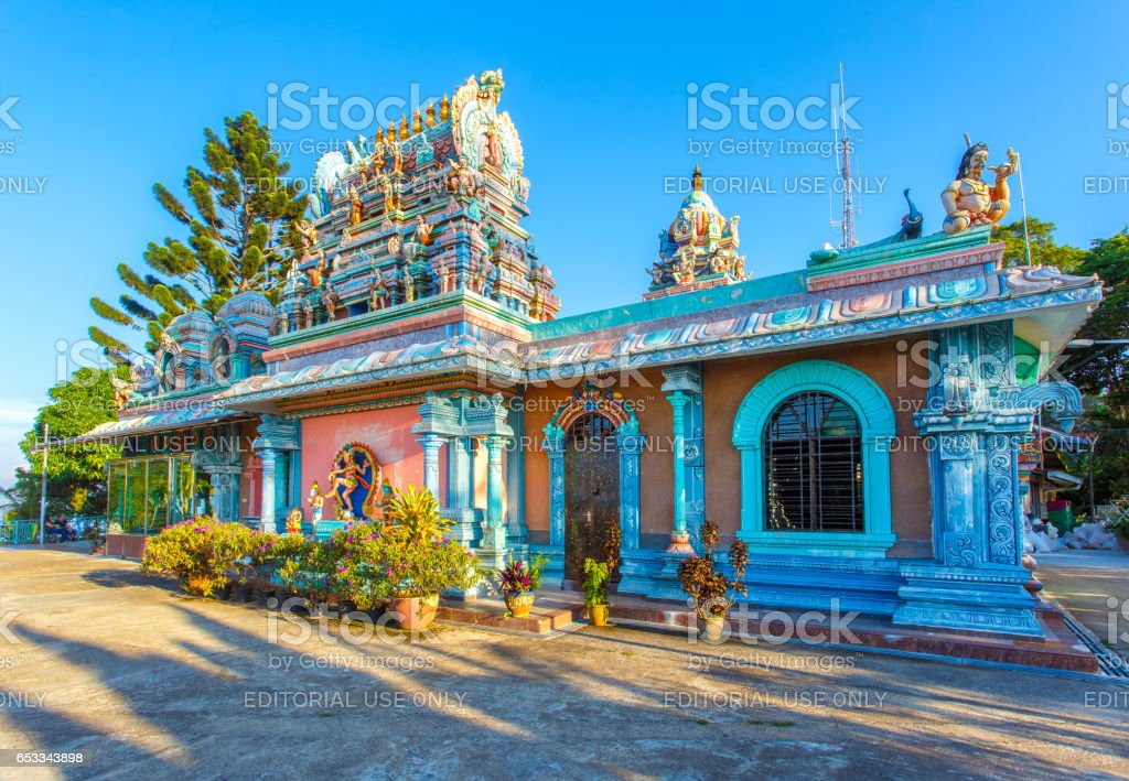 PENANG- APRIL 14, 2016 : Sri Ruthra Veeramuthu facade in Penang hill on April 14, 2016 in George Town, Penang, Malaysia historical city centre has been listed as a UNESCO World Heritage Site . stock photo