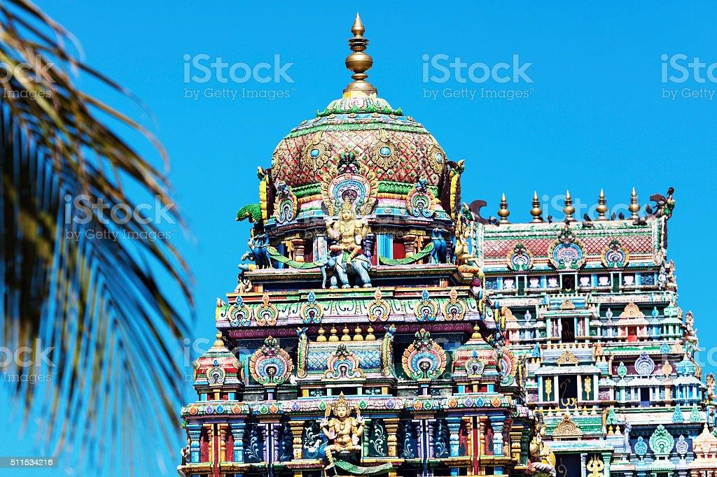 Sri Siva Subramaniya Swami Hindu Temple in Nadi stock photo