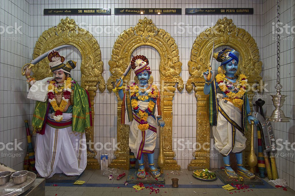 Sri Veeramakaliamman Hindu Temple Deities stock photo