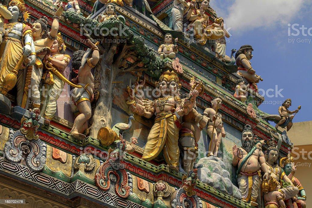 Sri Veeramakaliamman Hindu temple Singapore 2 stock photo