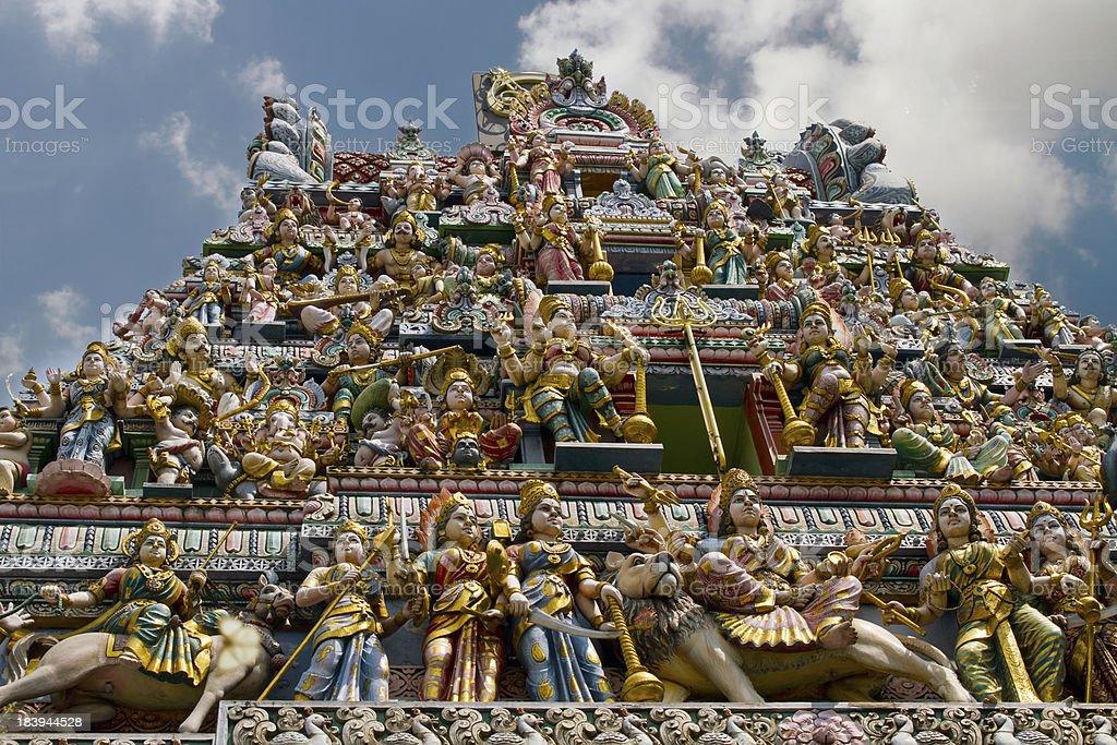 Sri Veeramakaliamman Hindu temple Singapore stock photo