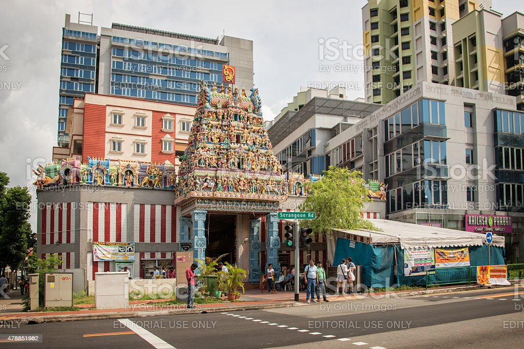 Sri Veeramakaliamman Temple in Little India stock photo