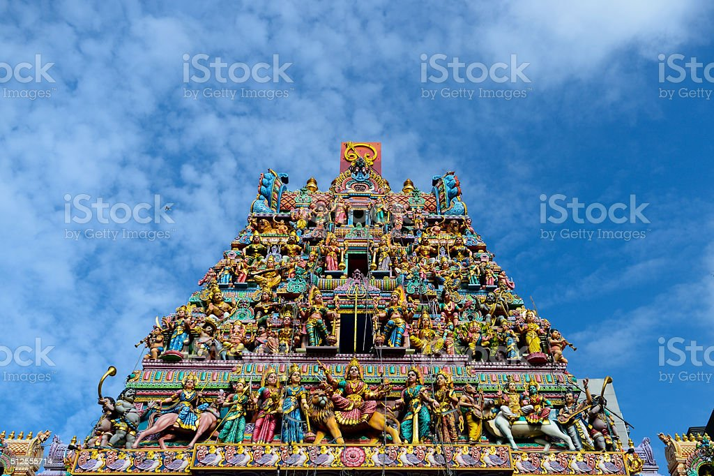 Sri Veeramakaliamman Temple stock photo