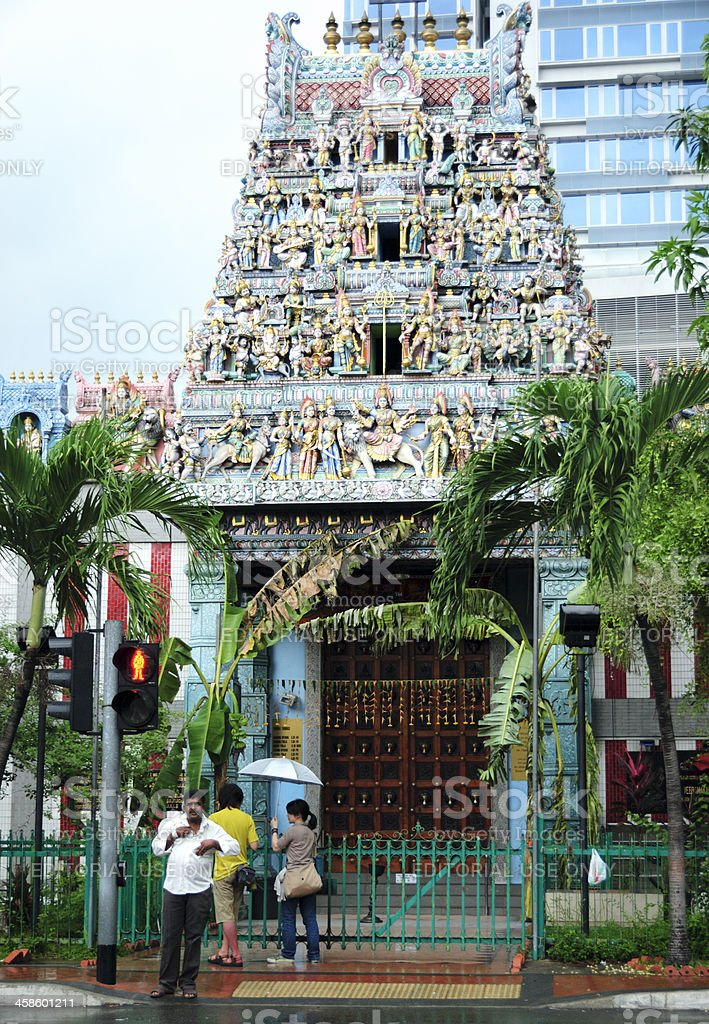 Sri Veeramakaliamman Temple, Singapore stock photo