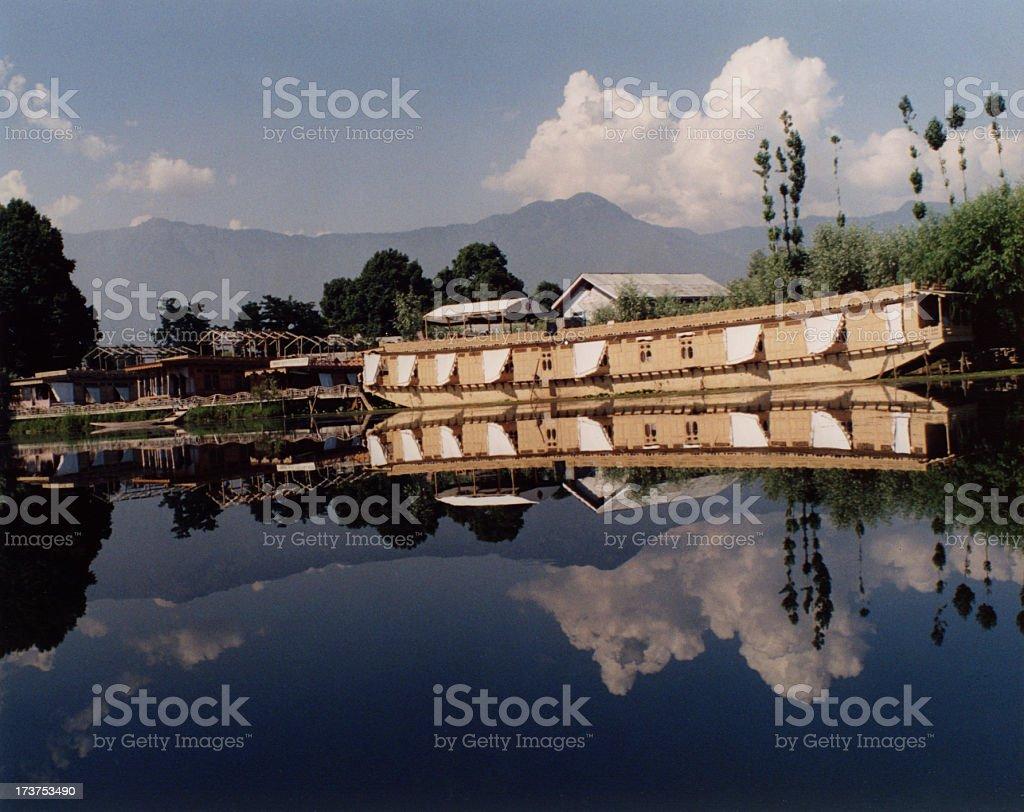Srinagar houseboat royalty-free stock photo