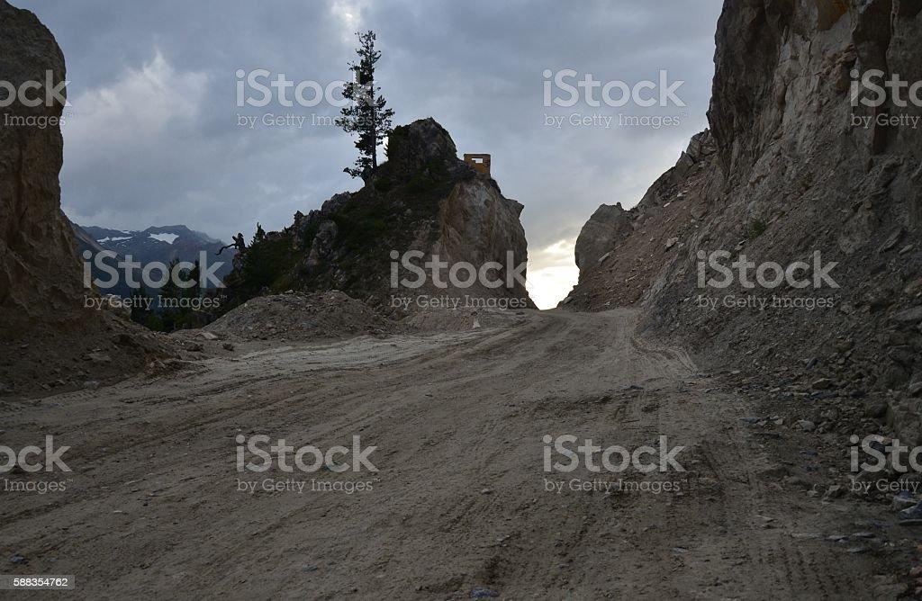 Srinagar Leh Highway stock photo